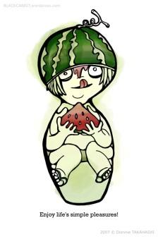 Melon Head Kokeshi