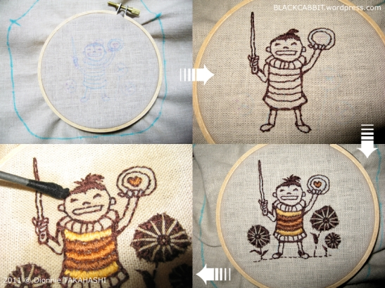Illustration embroidery