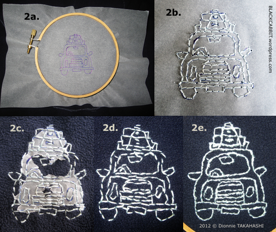 Transferring embroidery pattern