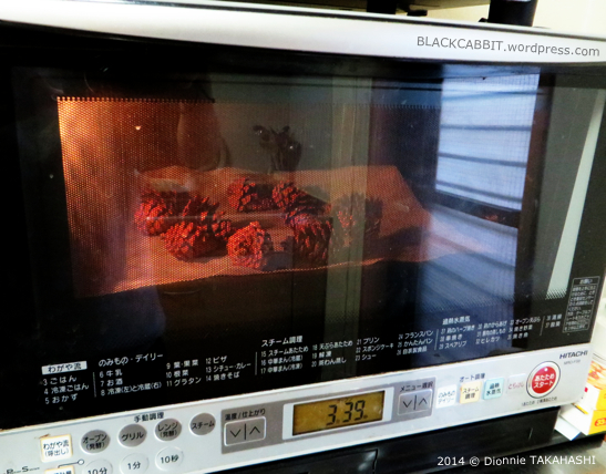 Baking pinecone