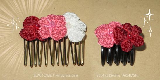 Chirimen flower clip