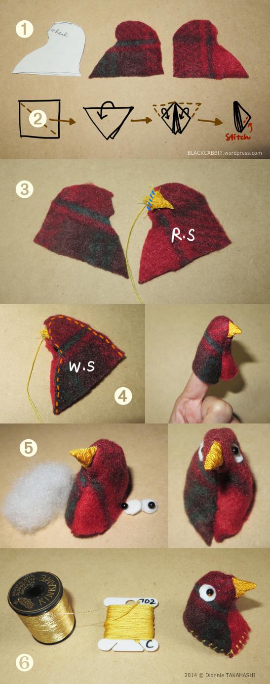 Chirimen Style Bird