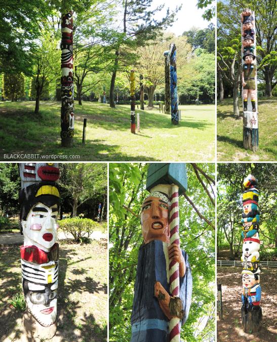 Japanese Park Totem Poles
