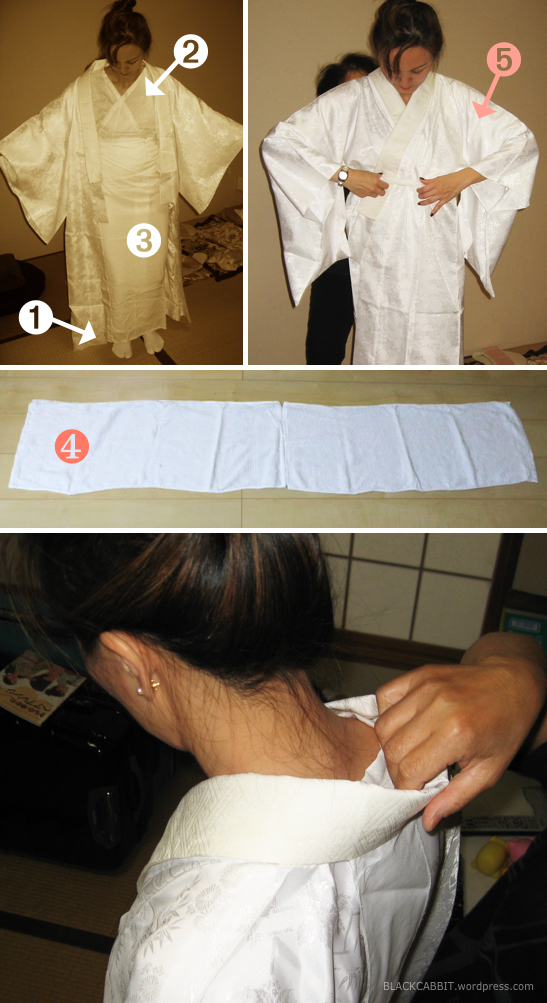 How to put on kimono