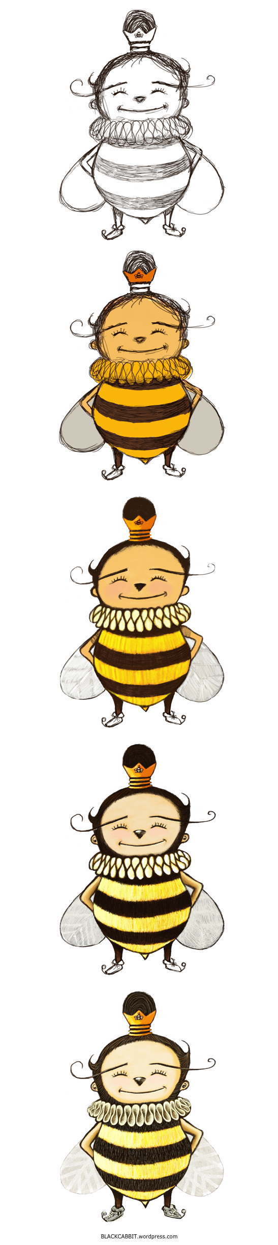Drawing queen bee